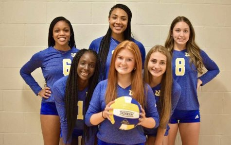 Volleyball Players Celebrate Senior Night